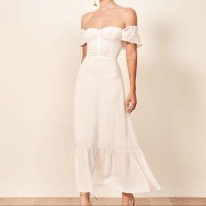 Reformation Butterfly Dress Size 6 - Ivory